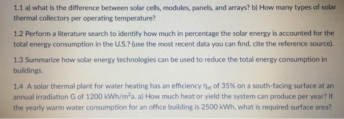 Solved: 1 1 A) What Is The Difference Between Solar Cells