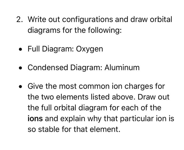 Condensed Orbital Diagram Aluminum Circuit Connection Diagram