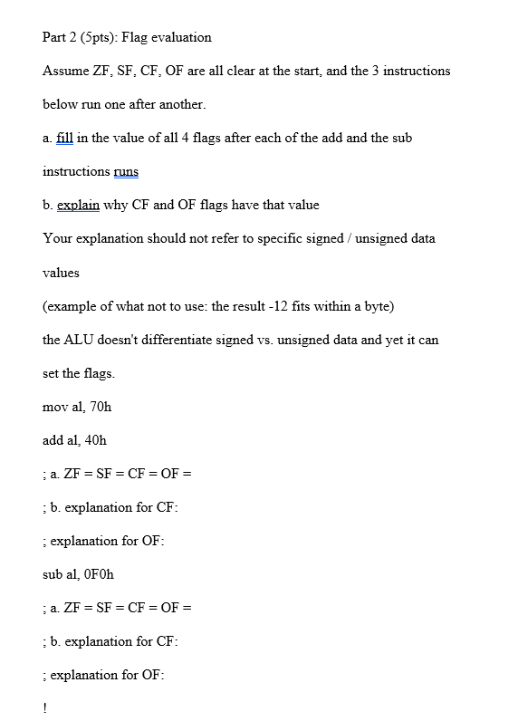 This Problem Is Based On X86 Assembly Language Pro