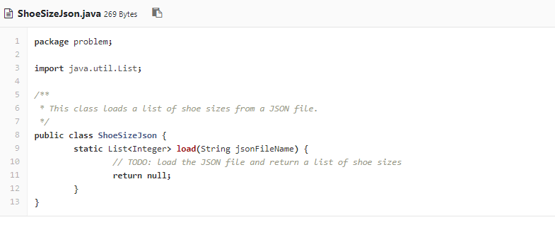 Solved: This Problem Is About Loading A List Of Shoe Sizes