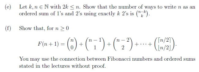 Solved E Let K N E N With 2k N Show That The Number