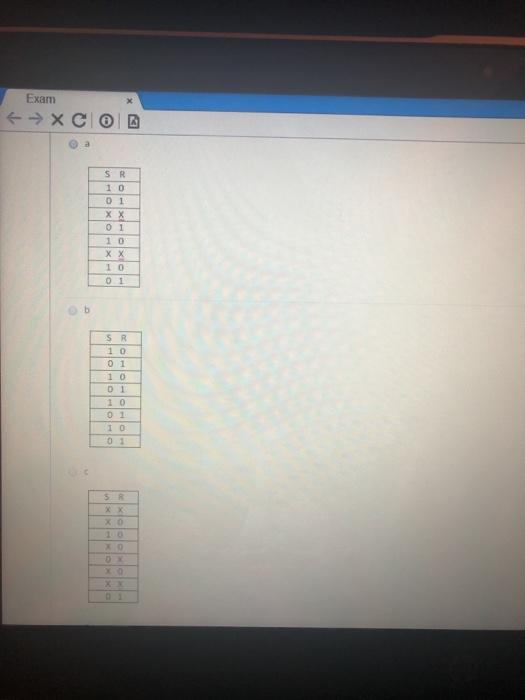 Exam 1 0 0 1 0 1 1 0 x X 1 0 0 1 o b S R 1 0 0 1 1 0 1 0 0 1 1 0 0 1 s R