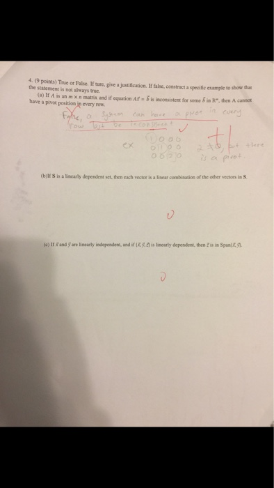 Solved: True Or False  If Sure, Give A Justification  If F