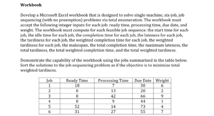 solved develop a microsoft excel workbook that is designe