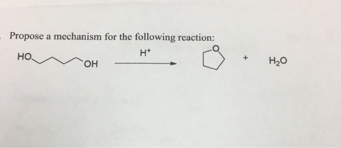 Propose a mechanism for the following reaction: H+ + H2O