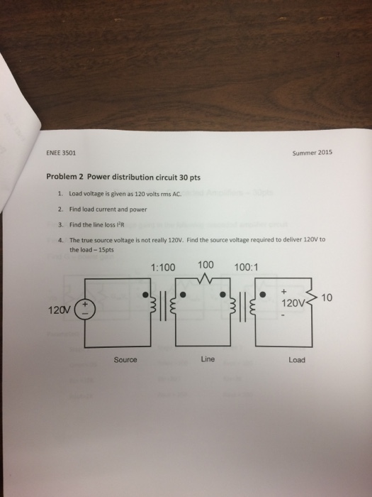 Solved: Load Voltage Is Given As 120 Volts Rms AC. Find Lo ...