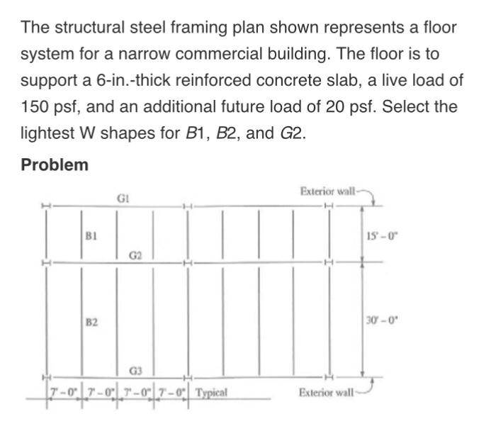 Solved: The Structural Steel Framing Plan Shown Represents