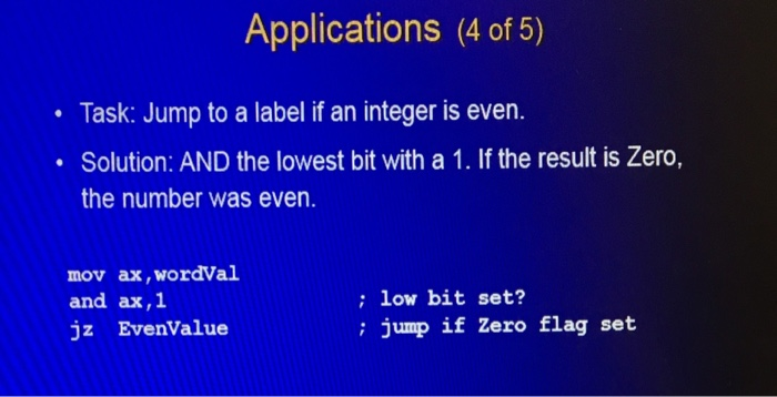 Solved: Assembly Language For X86 Processors Topic: Condit