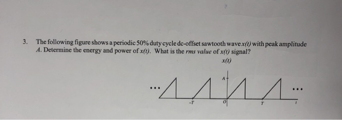 Solved: The Following Figure Shows A Periodic 50% Duty Cyc