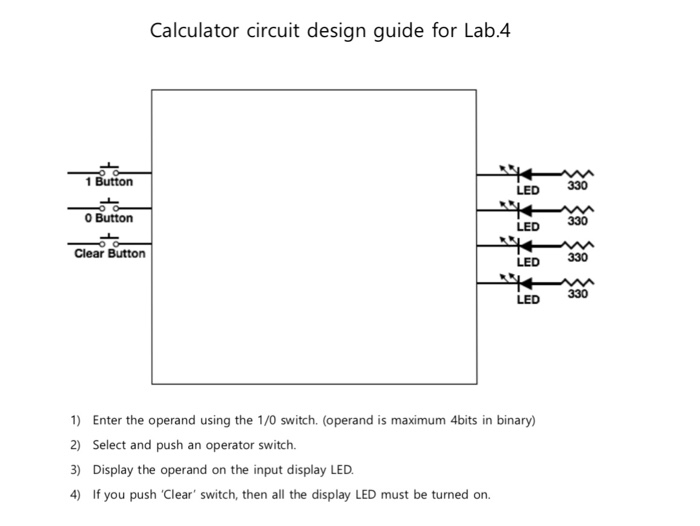 Draw The Circuit For The Binary Calculator For Two