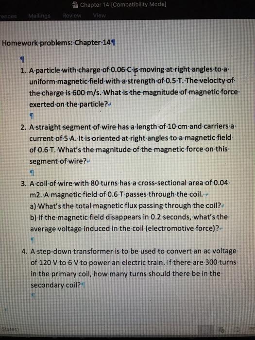 Solved: Chapter 14 (Compatibility Model Ences Homework Pro ...