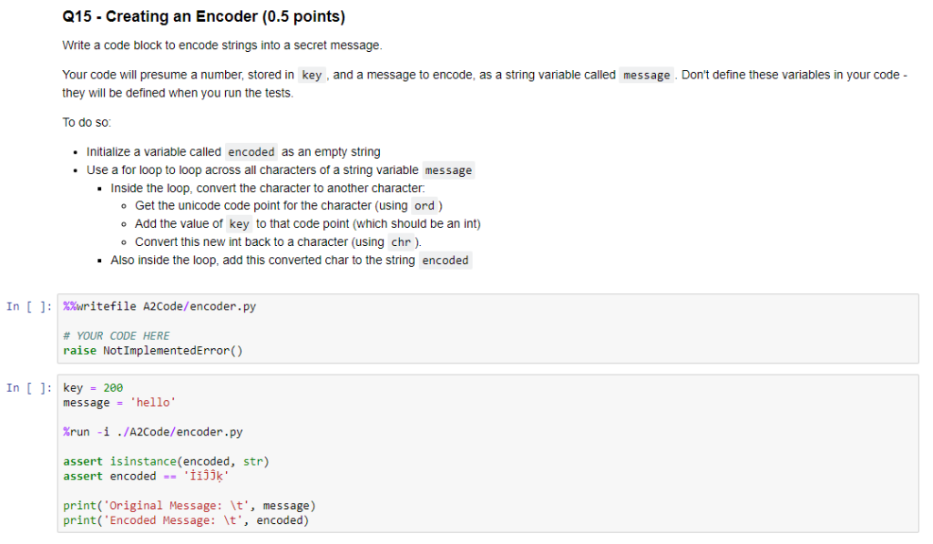 Solved: 215-Creating An Encoder (0 5 Points Write A Code B