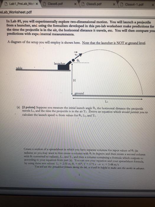 Solved D Lab1 Prelabyor Nd Class6 Pdf Elab Worksheet Pdf
