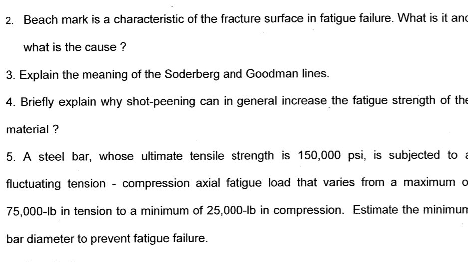 Solved: 2  Beach Mark Is A Characteristic Of The Fracture