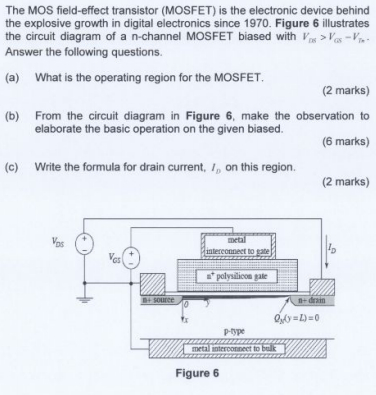 Solved: The MOS Field-effect Transistor (MOSFET) Is The El