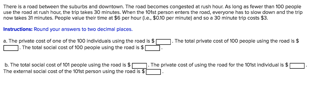 Solved: There Is A Road Between The Suburbs And Downtown
