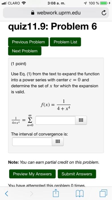 5ad3b5c8f14 CLARO 3 08 A. M 100 % + Webwork.uprm.edu Quiz11.9 ...