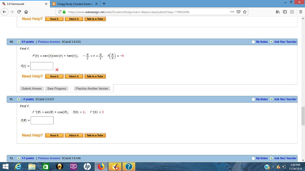 Solved: 3 9 Homework X C Chegg Study | Guided Solution X+