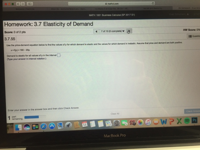 Solved Use The Price Demand Equation To Determine Whether