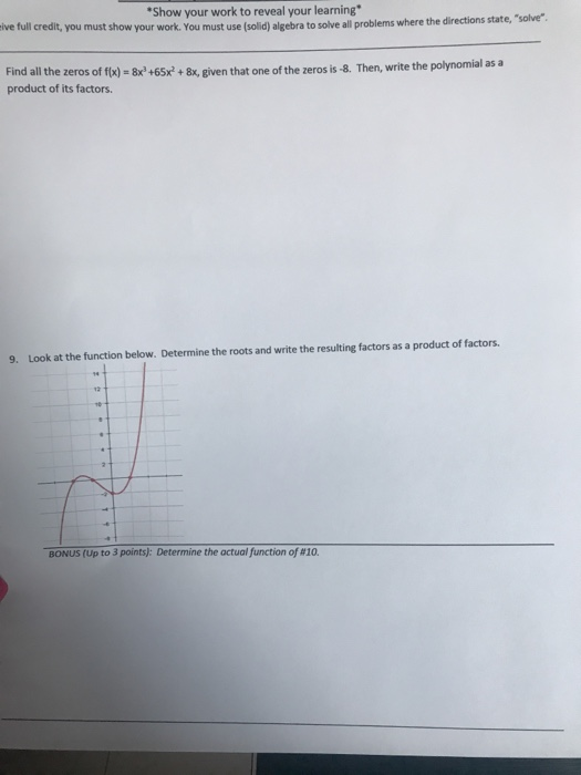Solved: Show Your Work To Reveal Your Learning Ive Full Cr ...