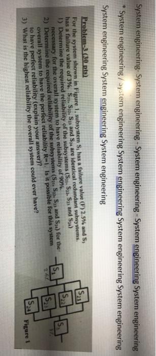 Solved: System Engineering- System Engineering-System Engi