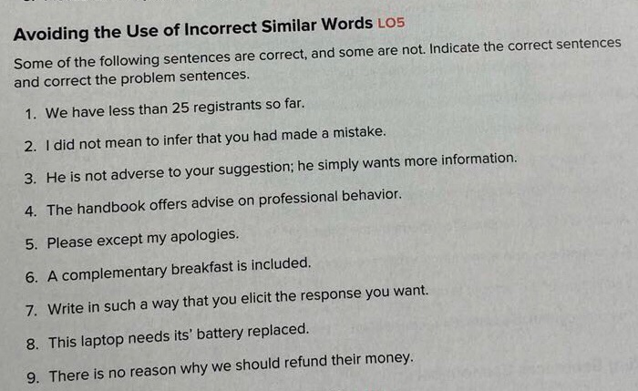 Solved: Avoiding The Use Of Incorrect Similar Words Los So