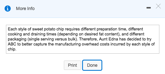 More Info 1 Each style of sweet potato chip requires different preparation time, different cooking and draining times (depend