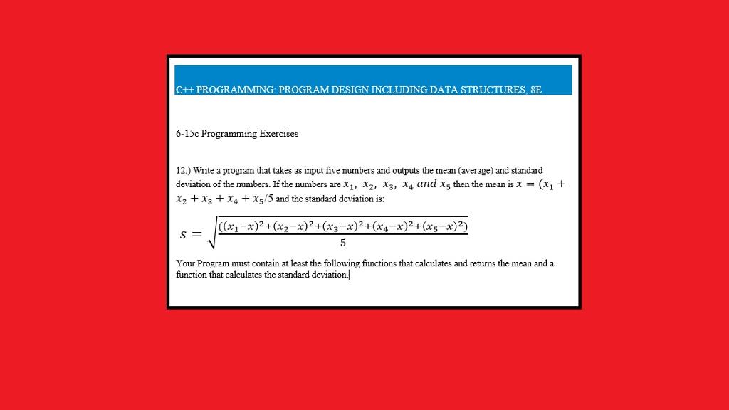 Solved: C++ PROGRAMMING: PROGRAM DESIGN INCLUDING DATA STR