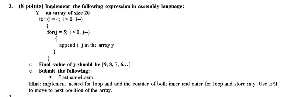 Solved: 2  (8 Points) Implement The Following Expression I