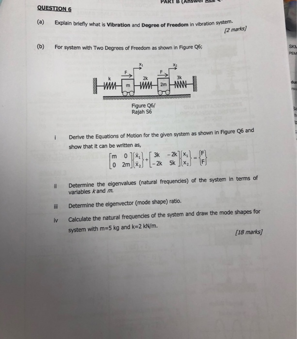 Solved: PART B (AnsWe QUESTION6 (a) Explain Briefly What I