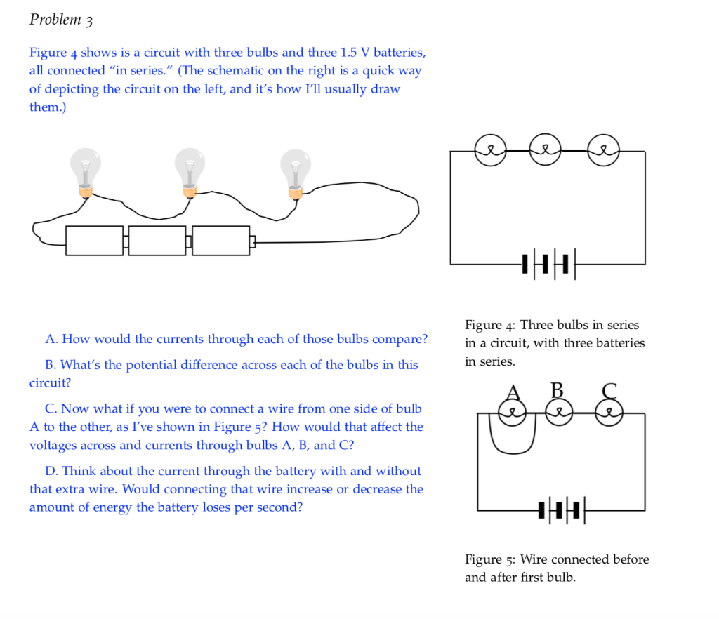 Solved Problem 3 Figure 4 Shows Is A Circuit With Three B Chegg Com