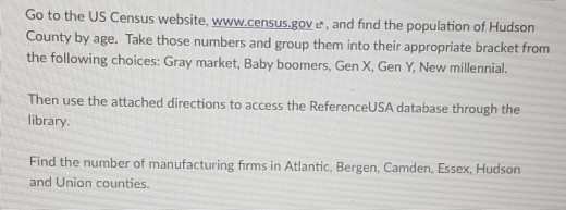 Solved: Go To The US Census Website, Www census gove, And