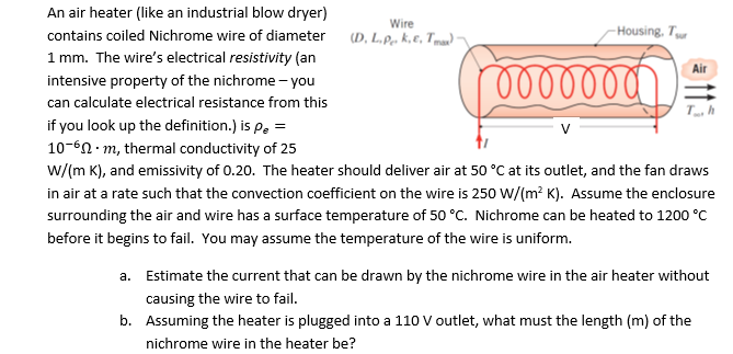 Solved: An Air Heater (like An Industrial Blow Dryer) Cont