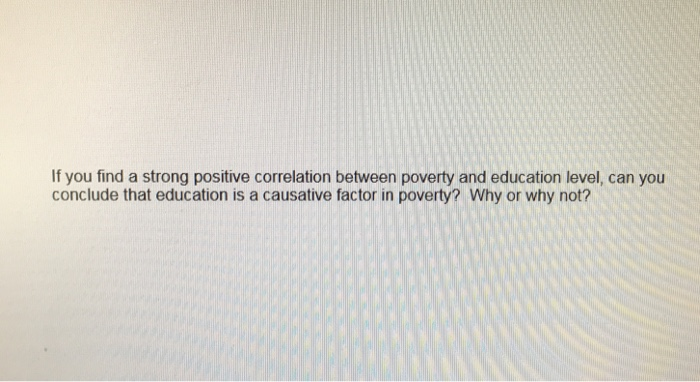 correlation between poverty and education