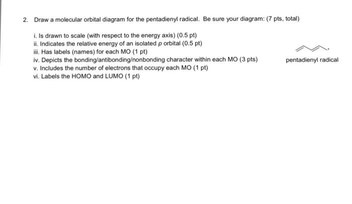 Molecular Orbital Diagram For Pentadienyl Radical Auto Electrical