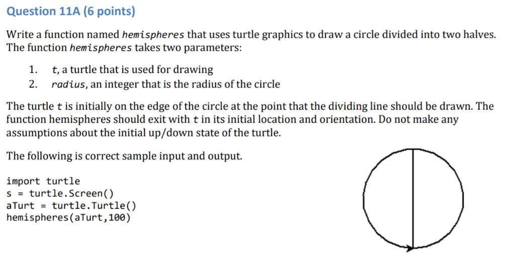 PYTHON 3 7: Write A Function Named Hemispheres Tha    | Chegg com