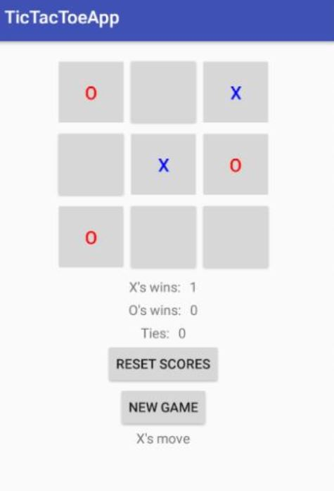 Create An Android App Of Tic-Tac-Toe Game  When Ap