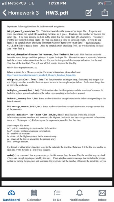 Solved: Ll MetroPCS LTE 12:20 PM 6% Homework 3 Hw3 pdf R D
