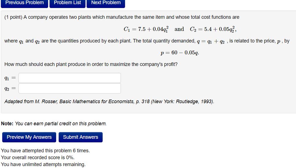 Solved: Previous Problem Problem List Next Problem (1 Poin