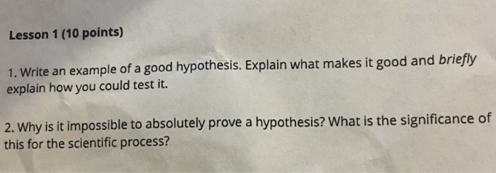 how to write a strong hypothesis