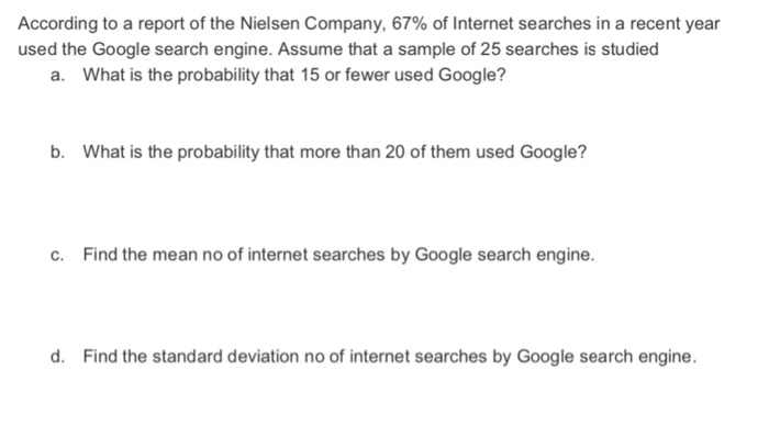 Solved: According To A Report Of The Nielsen Company, 67
