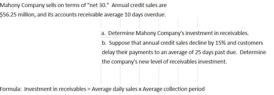accounts receivable terms net 30
