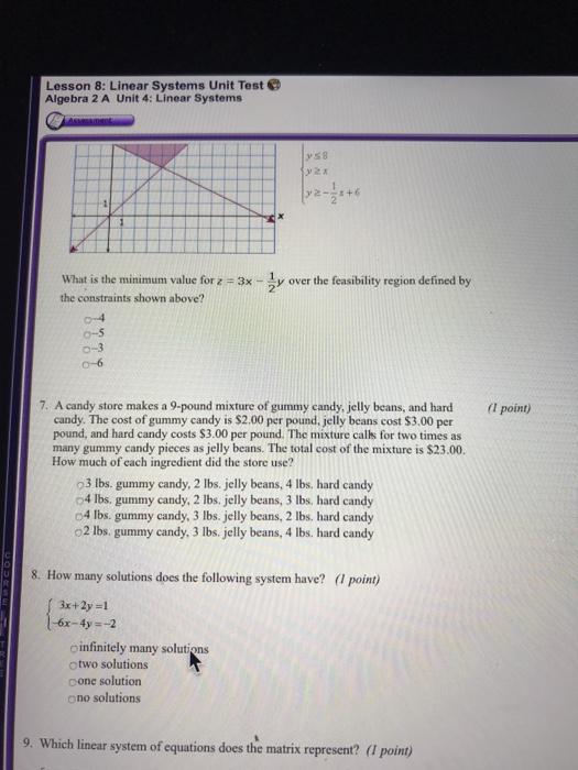 Algebra 1 Unit 4 Test Linear Equations Answers - Tessshebaylo