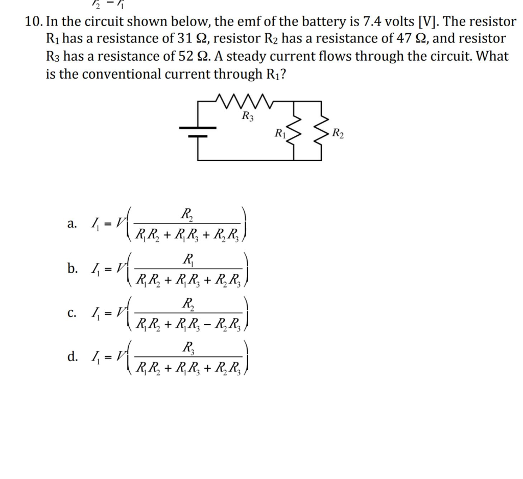 In The Circuit Shown Below Emf Of Battery Is 7 4 Volts