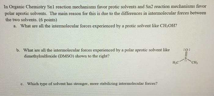 Solved: In Organic Chemistry Sn1 Reaction Mechanisms Favor