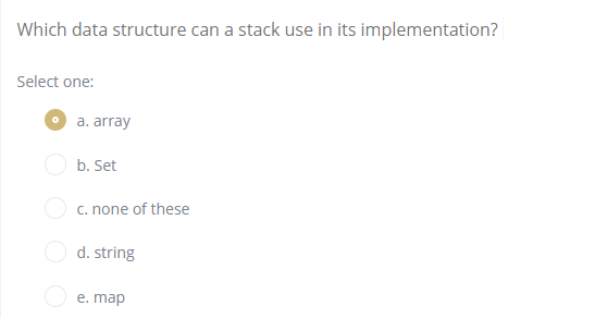 Solved: Which Data Structure Can A Stack Use In Its Implem ... on program structure, primitive type, abstract structure, procedural programming, map program, protein structure, map java, software structure, map operating system, boolean data type, map design, power structure, plot structure, home structure, array data type, abstract data type, navigation structure, map testing, satellite structure, map statistics,