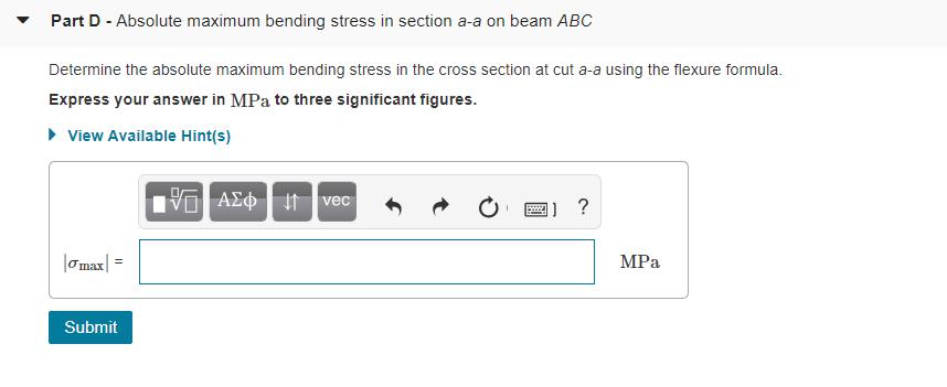 Solved: To Determine An I-beam's Maximum Bending Moment, M