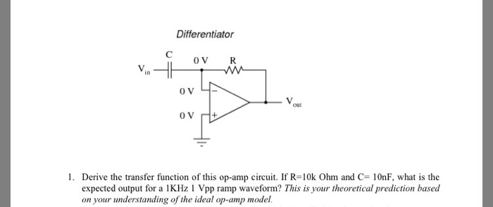 Solved: Derive The Transfer Function Of This Op-amp Circui