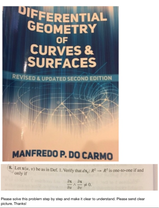 UIFFERENTIAL GEOMETRY Of CURVES SURFACES REVISED UPDATED SECOND EDITION MANFREDO PDO CARMO 8