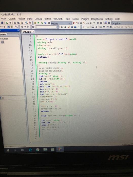 Code Blocks 13 12 View Search Project Build Debug      Chegg com